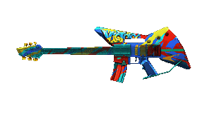 M4A1-Guitarra-Graffiti